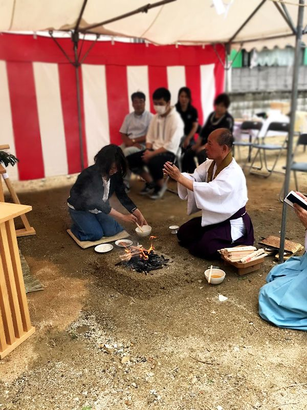 堺市の地鎮祭の事例