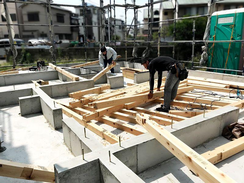 堺市新築の土台作り