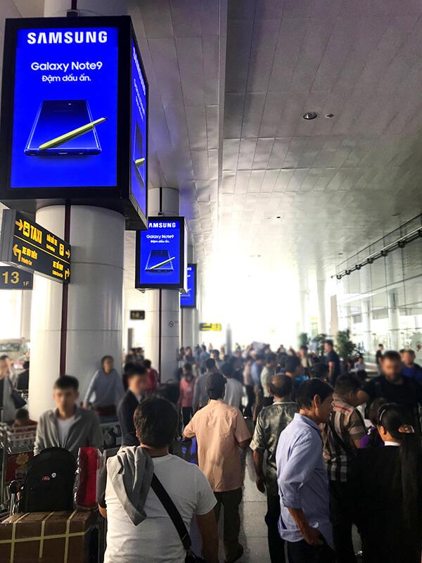 ベトナムの空港に到着