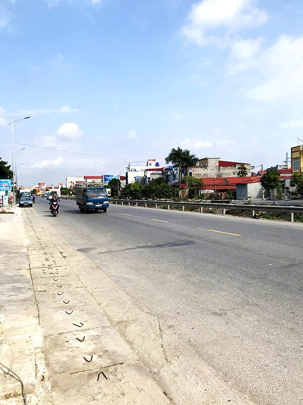 訪問途中の道路