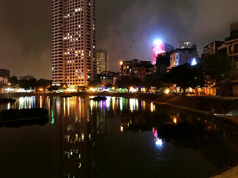 ベトナムの夜の風景