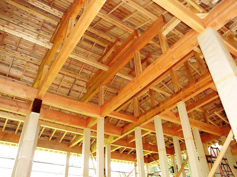 木造軸組工法に使用する骨組み木材(部材)イメージ1