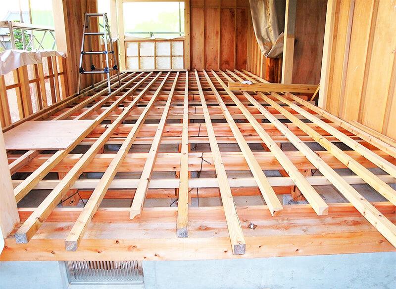 木造軸組工法に使用する骨組み木材(部材)イメージ2